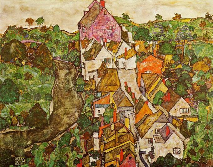 landscape-at-krumau-1916